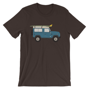Land Rover graphic unisex T-Shirt in brown