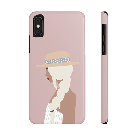 Case Mate Slim Phone Cases | Girl with the Braid (Pink)