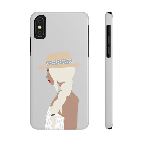 Case Mate Slim Phone Cases | Girl with the Braid (Blue)