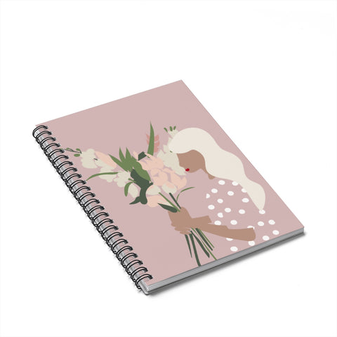Girl with the Flowers & Polka Dots | Notebook