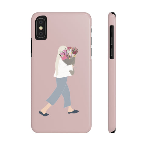 Case Mate Slim Phone Cases | Girl with the Flowers