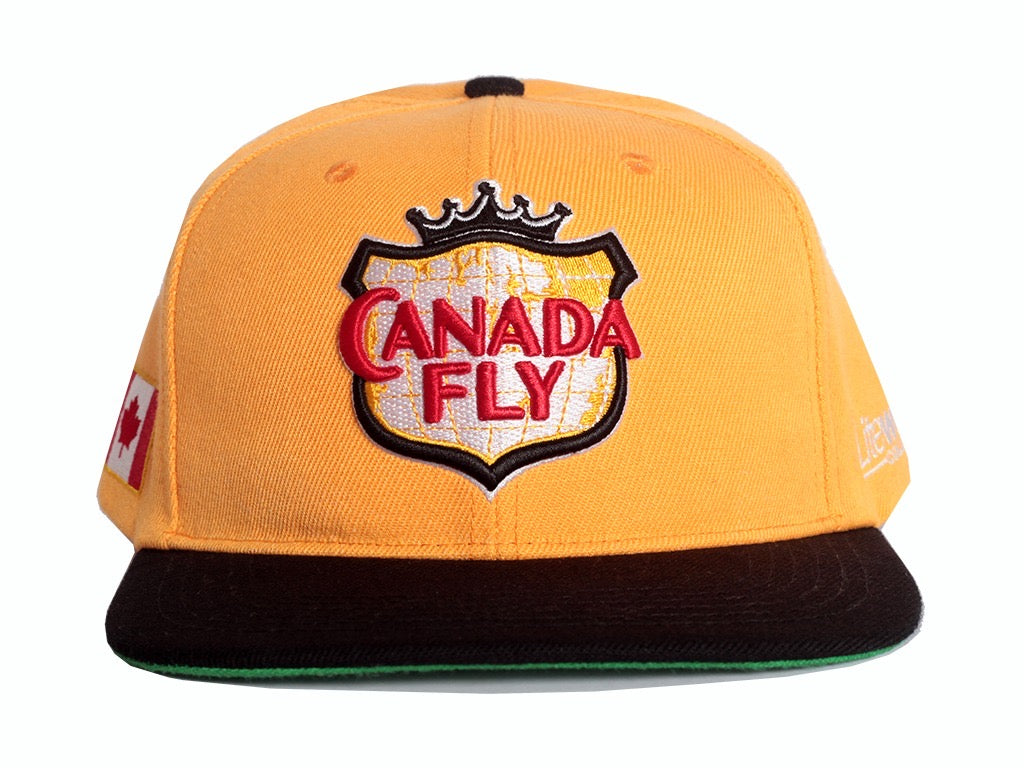 Yellow Canada Fly Snapback