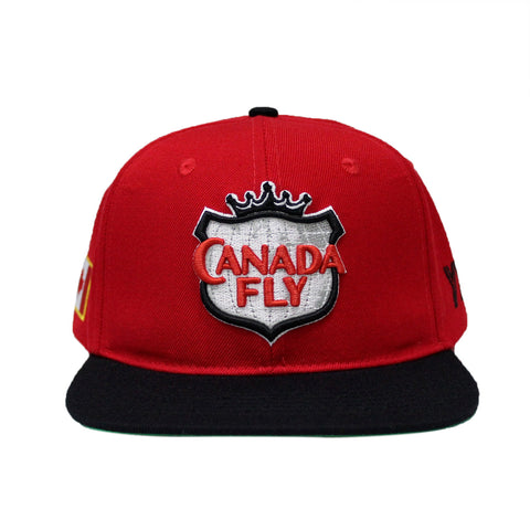 Pre Order ! Red / Black Canada Fly Snapback  ( 150th Canada Edition )