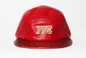 Leather 5-Panel Strap-back
