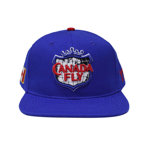 Pre Order ! True Blue Canada Fly Snapback  ( 150th Canada Edition )