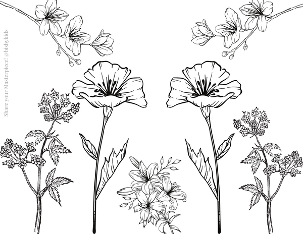BISBY coloring pages fun florals from the founders of little english