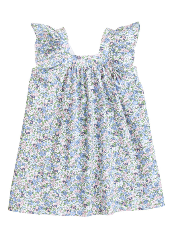 Victoria Dress - Kensington Floral Blue - BISBY