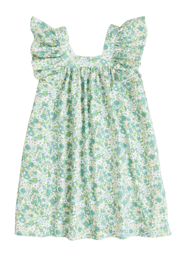 Victoria Dress - Kensington Floral Ivy - BISBY