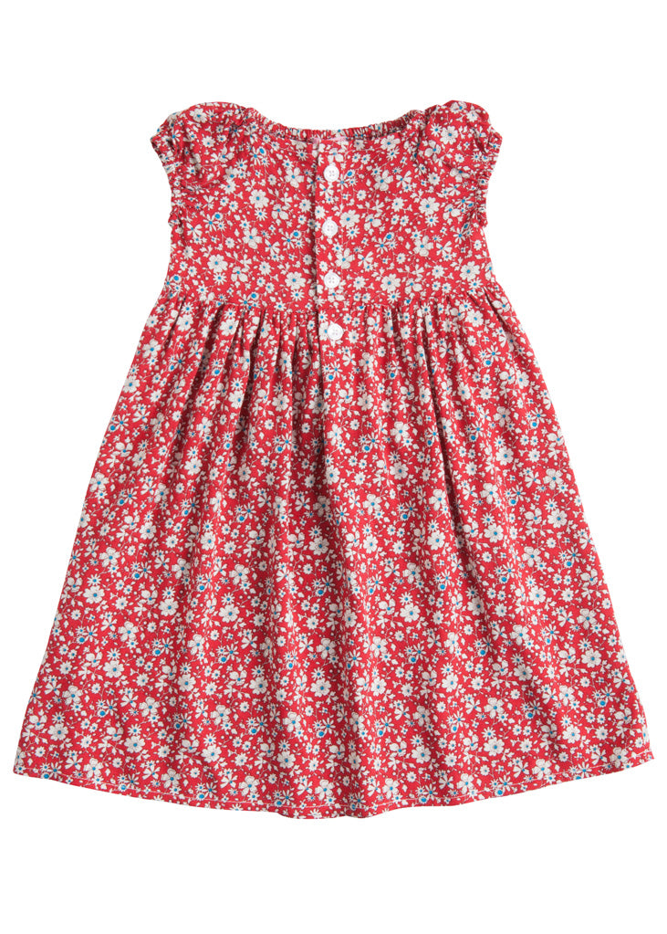 Polly Dress - Red Daisy - BISBY