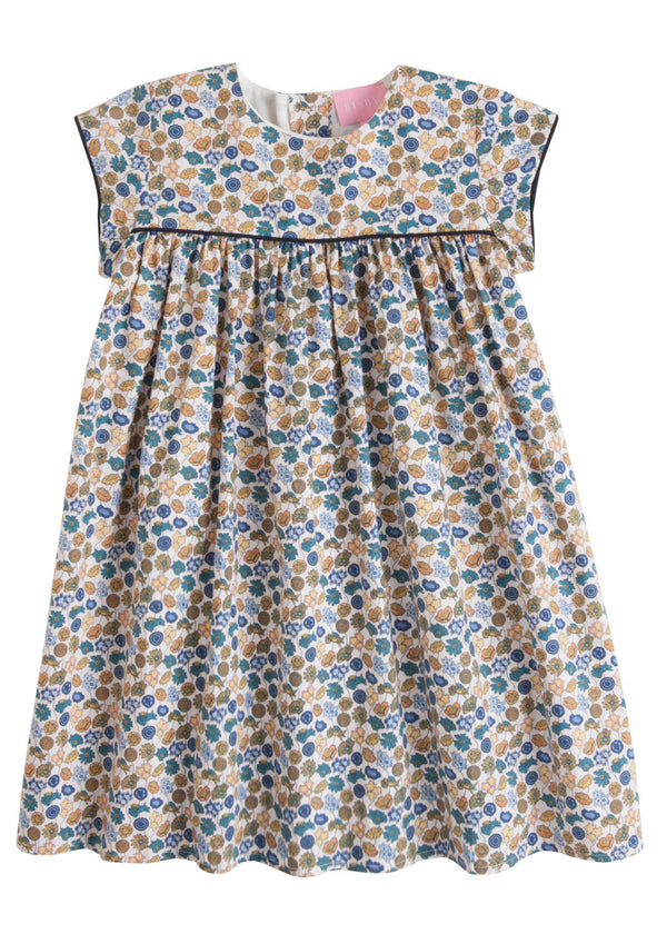Charlotte Dress - Blue Poppy Field - BISBY