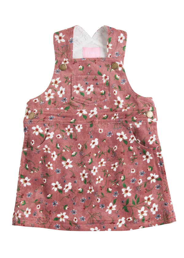 Penny Pinafore - Dusty Pink Blossom - BISBY