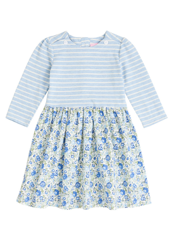 Rosie Dress - Cottage Garden Blue - BISBY