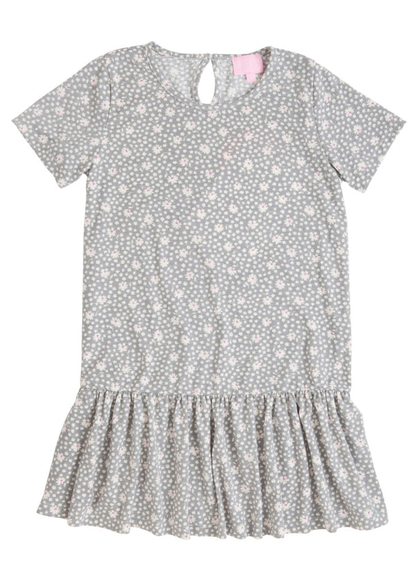 Isabel Dress - Grey Daisy - BISBY
