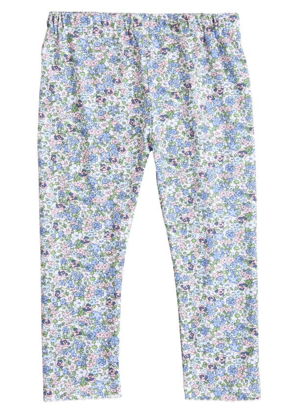 Leggings - Kensington Floral Blue - BISBY