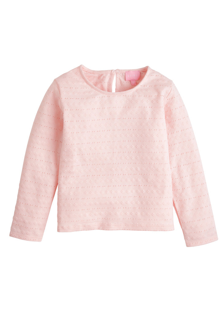 Essential Tee - Pink Pointelle - BISBY