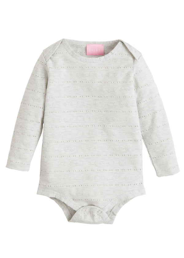 Essential Onesie - Grey Pointelle - BISBY