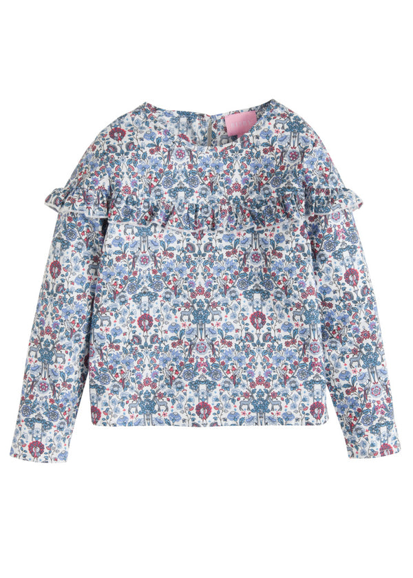 Emily Top - Blue Woodland - BISBY