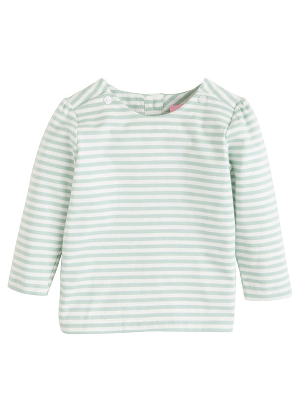 Rosie Blouse - Mint Stripe - BISBY