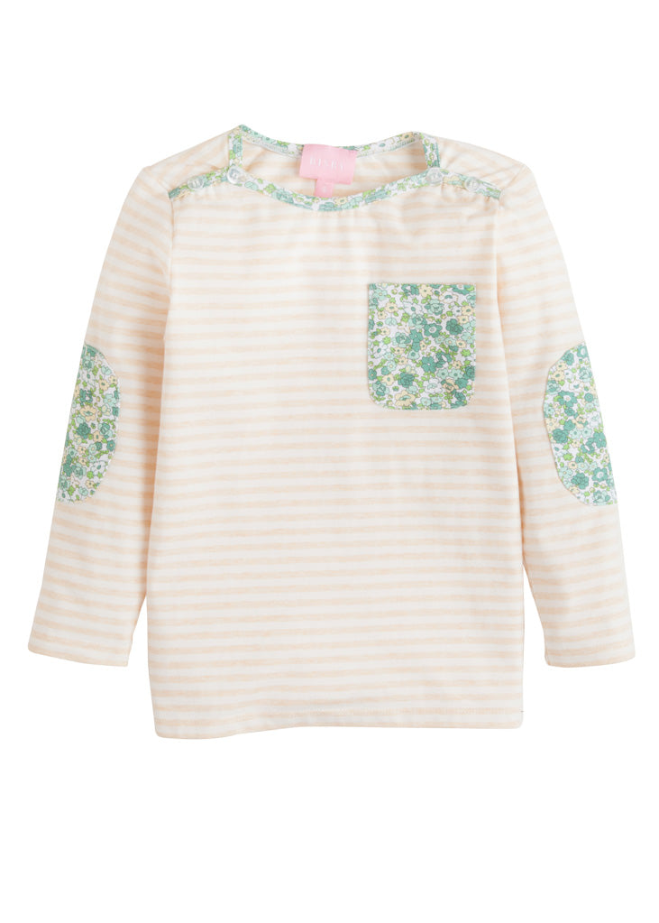 Breton Top - Autumn Stripe & Kensington Floral Ivy - BISBY