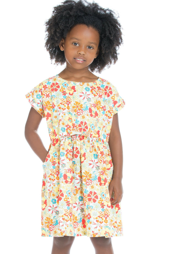 Xie Xie Dress - Tropical Daffodil Floral - BISBY