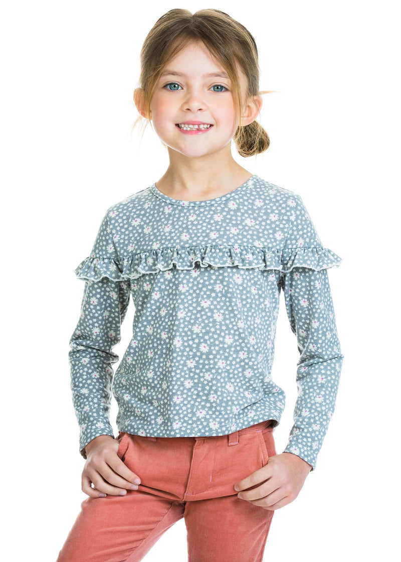 Emily Top - Grey Daisy - BISBY