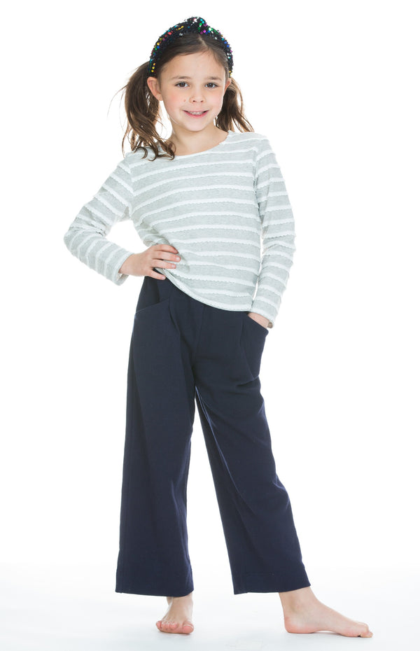 Palazzo Pants - Navy - BISBY