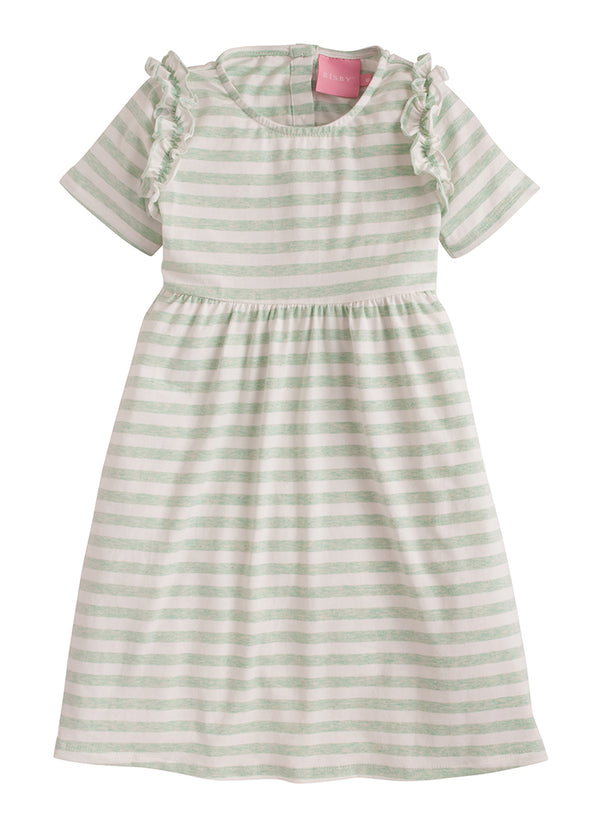 Helen Dress - Green Jersey Stripe - BISBY