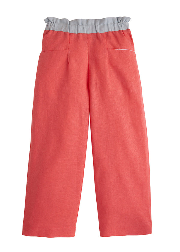 Palazzo Pants - Coral Linen - BISBY