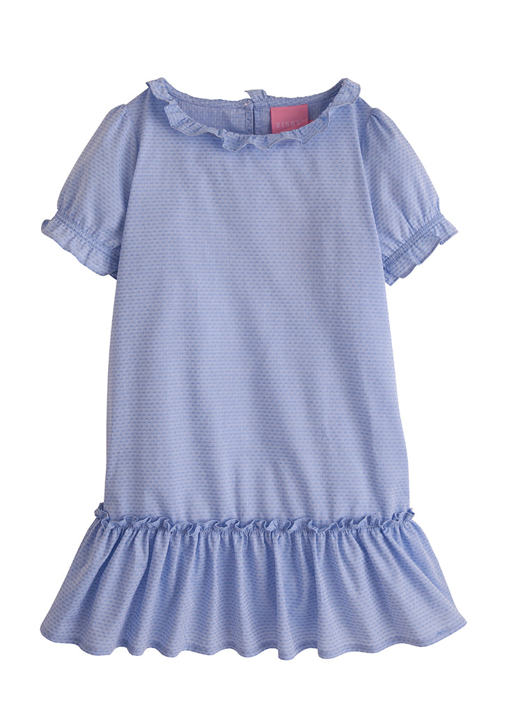 Samantha Dress - Blue Polka Dot - BISBY