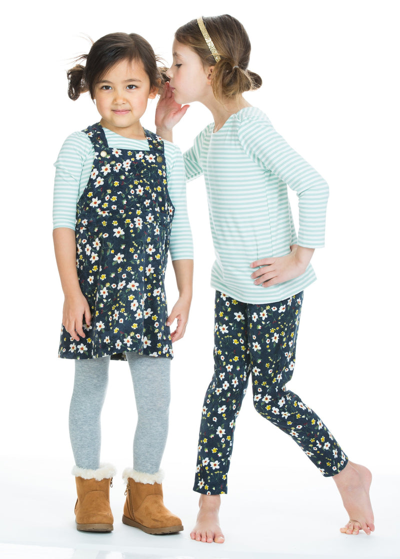 Twiggy Cords - Navy Blossom - BISBY