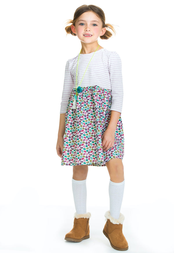 Rosie Dress - Teal Poppy Field - BISBY