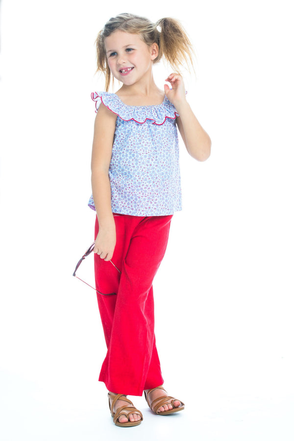 Palazzo Pants - Poppy Linen - BISBY