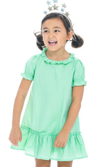 Samantha Dress - Green Polka Dot - BISBY