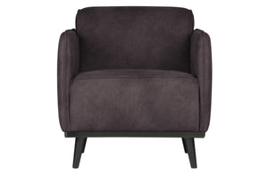 Statement Arm Chair Eco Leder Grau