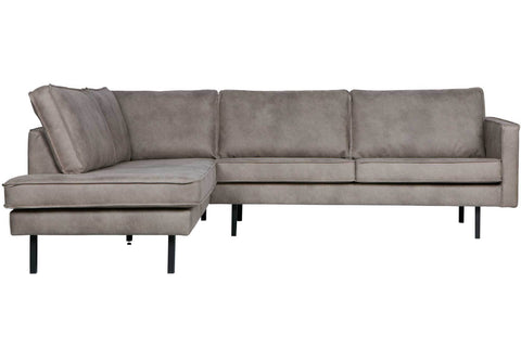 Ecksofa RODEO links, Kunstleder Elephant Skin