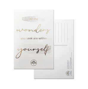 Postkarte DIN A6 mit Goldfolie 'All the wonders'