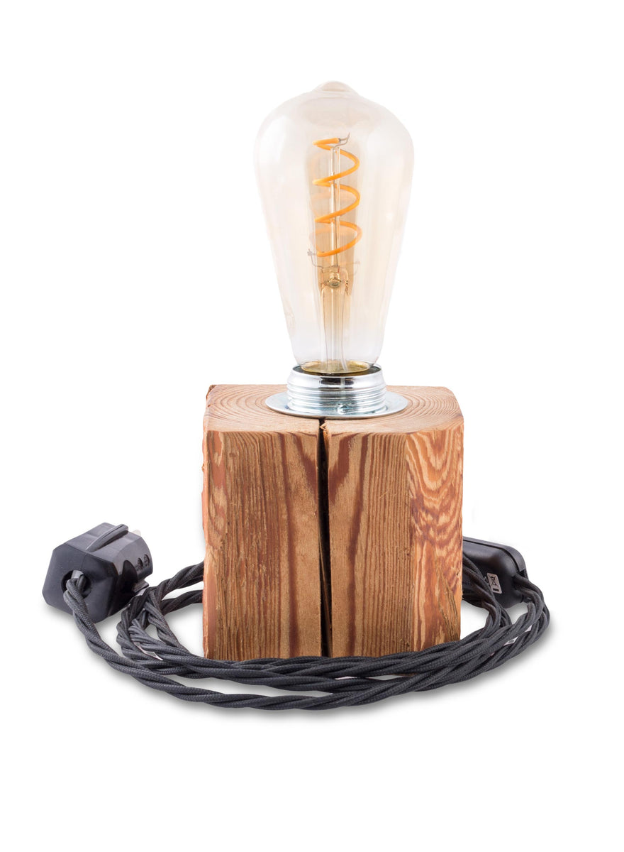 Upcycling Lampe Klotz Aus Holz Handgemacht Alles Gold Was Glanzt