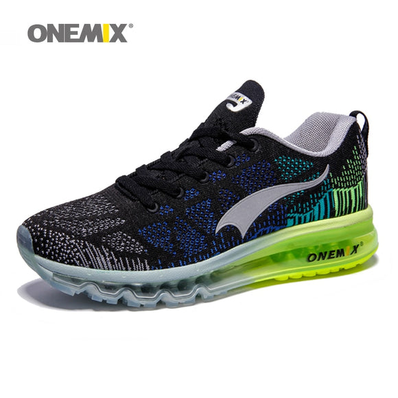 ONEMIX Air Running Shoes para hombre 97 Weave Music Rhythm Sneakers Malla transpirable Athletic