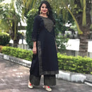 black kurti with plazzo set