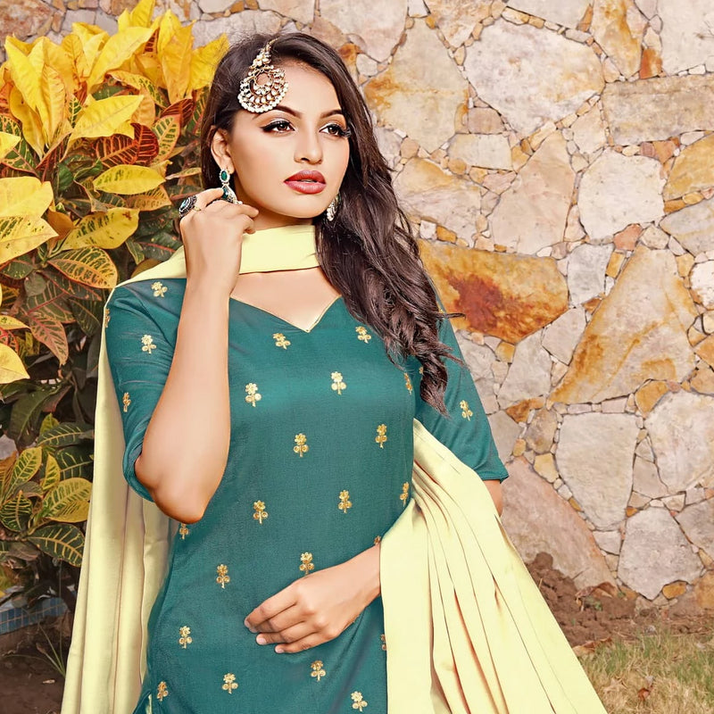 Green sequence kurta with salwar and dupatta dress