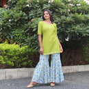 flared sharara kurti design
