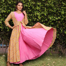 flared gown with shrug indowestern dress
