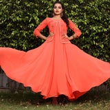 Party wear long gowns with sleeves