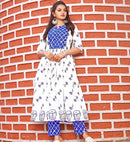 Block printed dresses for women's clothing