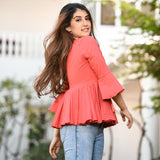 Cotton western wear top for jeans