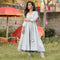 Gray cotton kurti for womens
