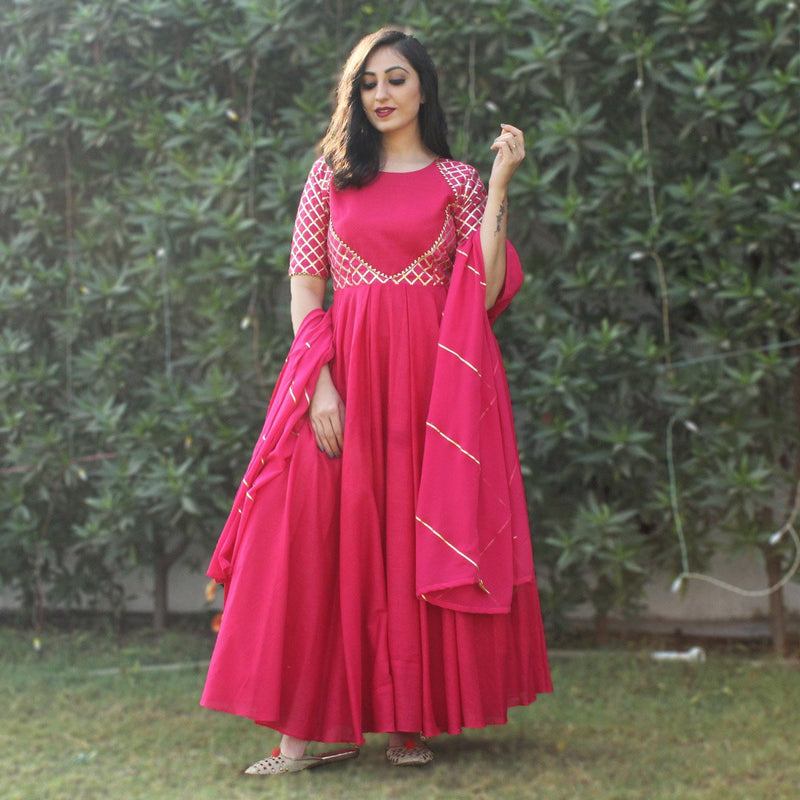 Long gowns with dupatta