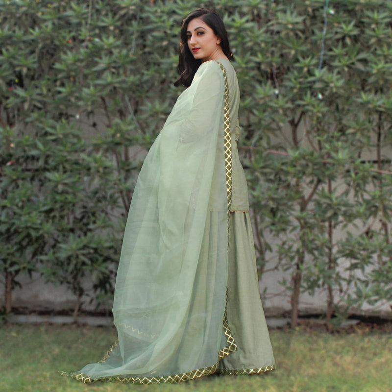 COTTON FLEX KURTA SKIRT WITH DUPATTA