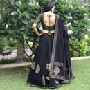 flared block printed lehnga choli
