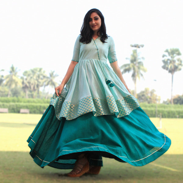 skylight dress with kurta and skirt